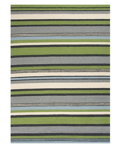 Jaipur Rugs Stripe Indoor/Outdoor Rug [Green/Blue]