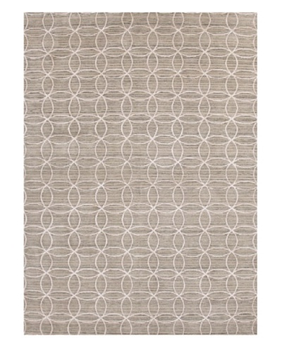 Jaipur Rugs Hand-Knotted Geometric Rug, Taupe/Ivory, 3' 6 x 5' 6