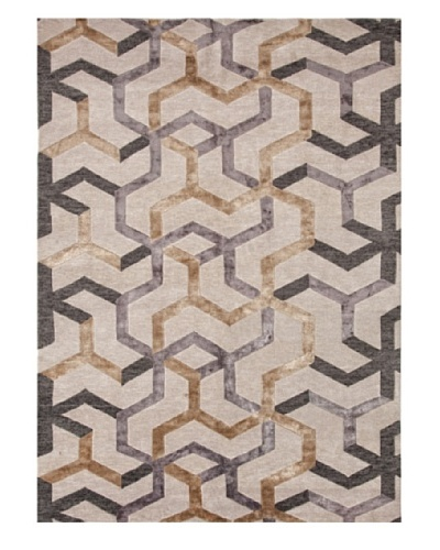 Jaipur Rugs Hand-Knotted Geometric Rug, Ivory/Gray, 2' x 3'