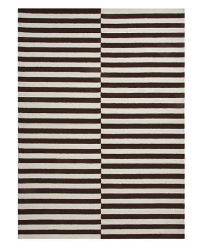 Jaipur Rugs Line Dance Indoor/Outdoor Rug [Chocolate/White]