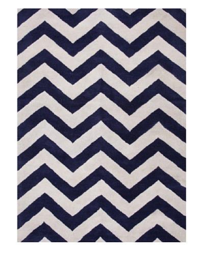 Jaipur Rugs Hand-Tufted Geometric Rug, Blue/Ivory, 8' x 11'
