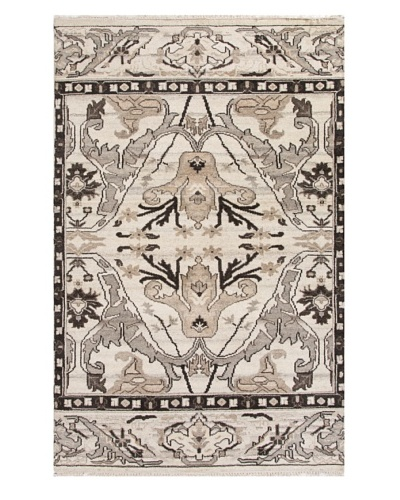 Jaipur Rugs Hand-Knotted Wool Rug, Natural White, 5' x 8'