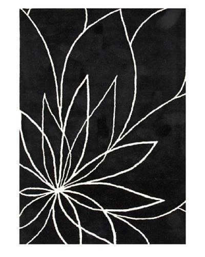 Jaipur Rugs Hand-Tufted Floral Wool Rug, Black/Ivory, 5' x 8'