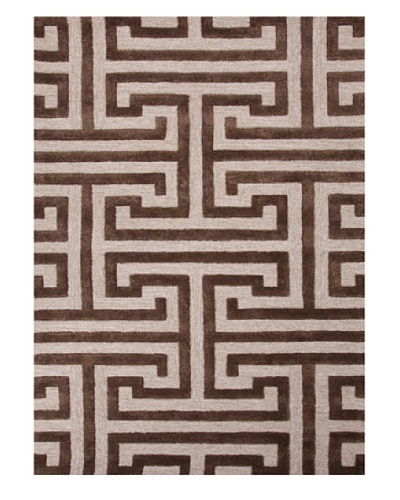 Jaipur Rugs Hand-Tufted Geometric Rug, Taupe/Brown, 5' x 8'