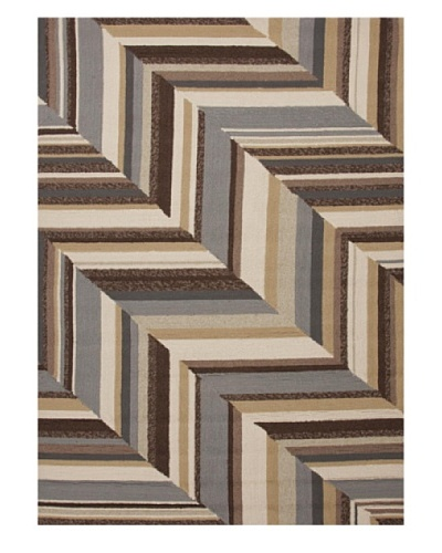 Jaipur Rugs Stair Stripe Indoor/Outdoor Rug [Brown/Multi]