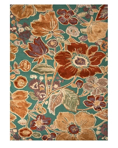 Jaipur Rugs Hand-Tufted Floral Rug, Green/Yellow, 2' x 3'