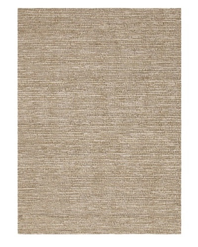 Jaipur Rugs Naturals Solid Pattern Jute Rug, Ivory/White, 3' 6 x 5' 6