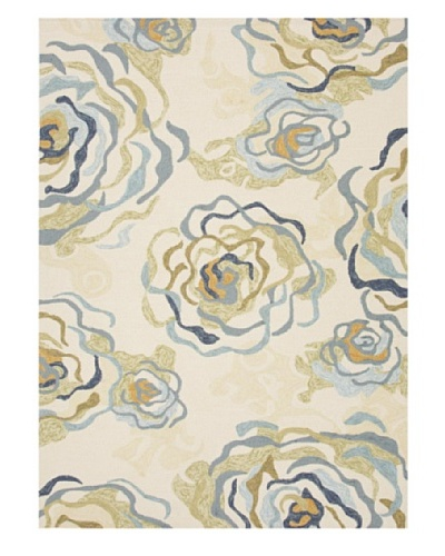 Jaipur Rugs Floraline Indoor/Outdoor Rug [Blue/Green]