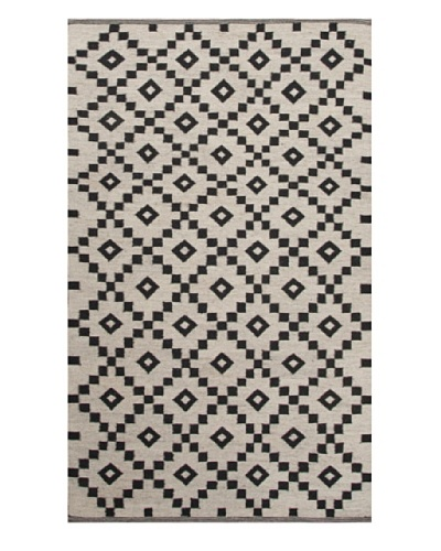 Jaipur Rugs Flat-Weave Durable Rug, Ivory/Black, 4' x 6'