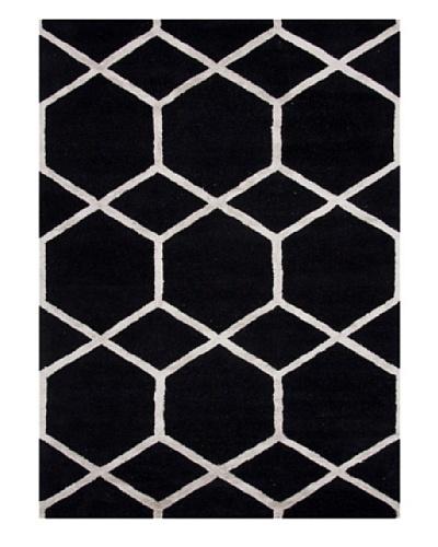 Jaipur Rugs Hand-Tufted Geometric Rug, Black/Ivory, 2' x 3'