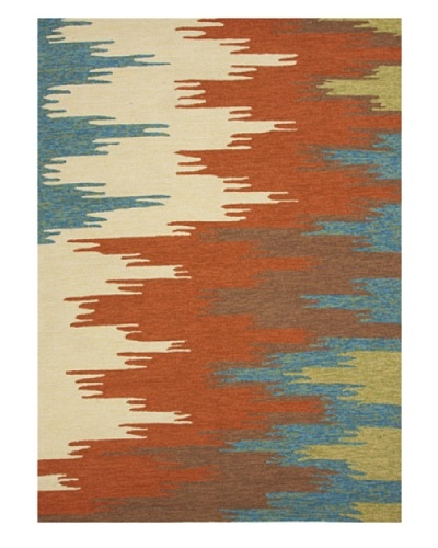 Jaipur Rugs Abstract Indoor/Outdoor Rug [Red/Orange/Blue]