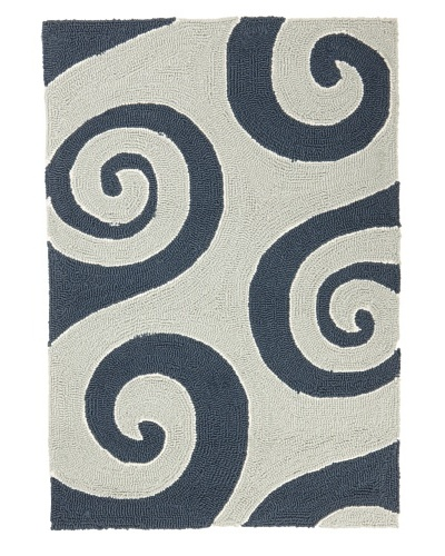 Jaipur Rugs Wave Hello Indoor/Outdoor Rug [Dark Blue]