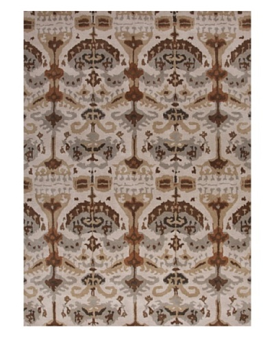 Jaipur Rugs Hand-Tufted Tribal Rug, Ivory/Brown, 3' 7 x 5' 7