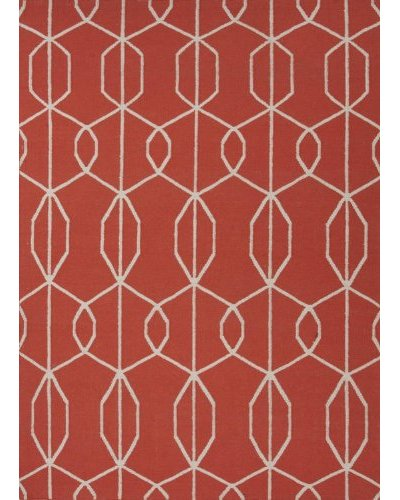 Jaipur Rugs Handmade Flat Weave Geometric Rug [Blood Orange]