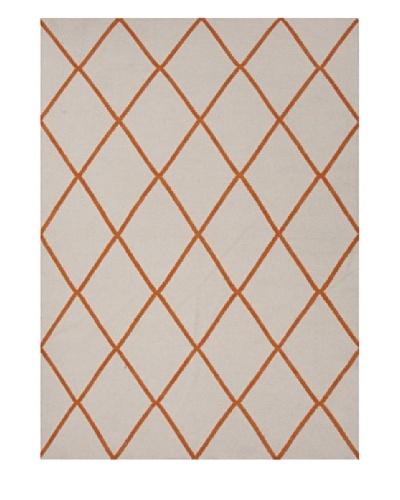 Jaipur Rugs Handmade Flat Weave Geometric Rug [Orange]