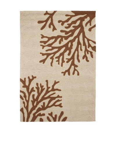 Jaipur Rugs Inc. Hand-Hooked Bough Out Rug [Beige/Brown]