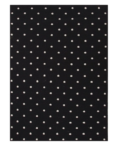 Jaipur Rugs, Inc. Flat Weave Geometric Pattern Gray/Black Wool Handmade ( 3.6x5.6 ) [Gray/Black]