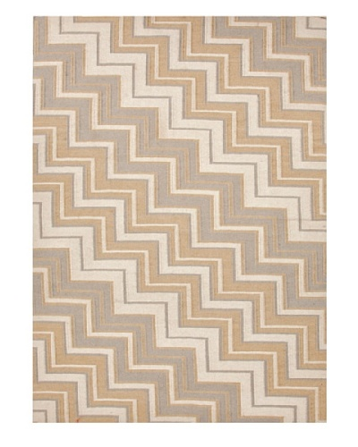 Jaipur Rugs Handmade Flat Weave Geometric Rug [Brown/Tan/Ivory]