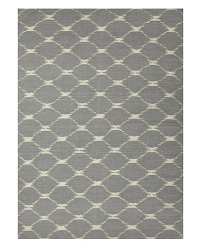Jaipur Rugs Handmade Flat Weave Geometric Rug [Blue/Grey]