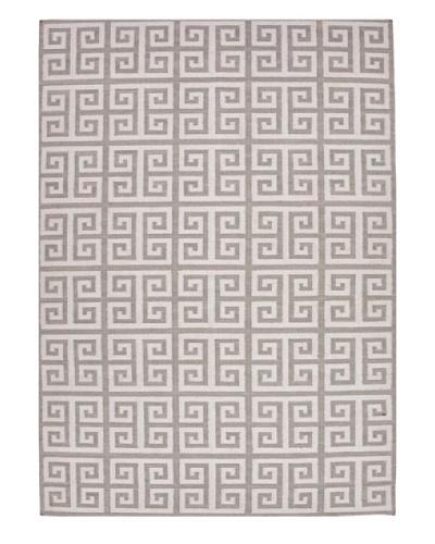 Jaipur Rugs, Inc. Hand-Made Geometric-Pattern Wool Flat-Weave Rug [Gray/Black]