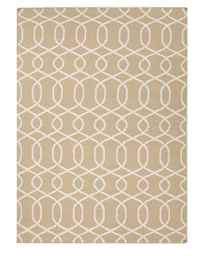 Jaipur Rugs, Inc. Flat Weave Geometric Pattern Beige/Brown Wool Handmade ( 3.6x5.6 ) [Brown]