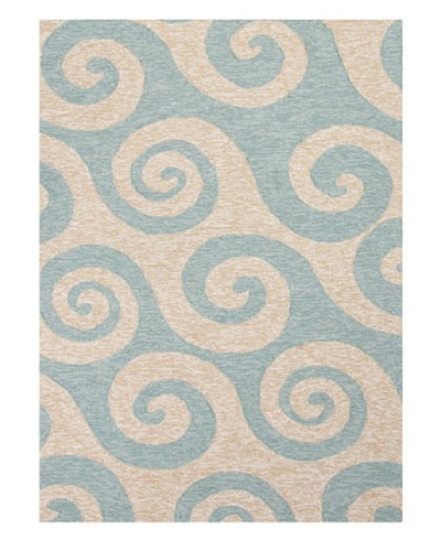 Jaipur Rugs Inc. Coastal Pattern Blue Indoor/Outdoor Rug [Blue]