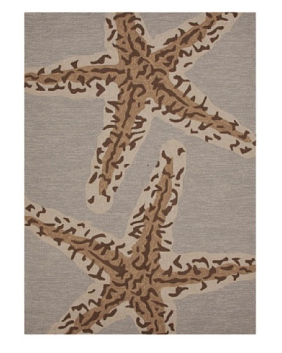 Jaipur Rugs Inc. Coastal Pattern Indoor/Outdoor Rug, [Gray/Black/Brown]