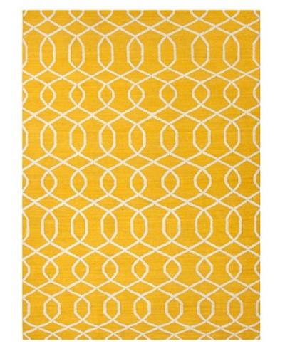 Jaipur Rugs Handmade Flat Weave Geometric Rug [Yellow]