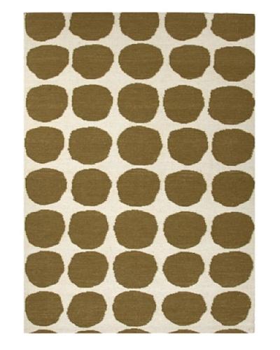 Jaipur Rugs, Inc. Flat Weave Geometric Pattern Green Wool Handmade ( 3.6x5.6 ) [Green]