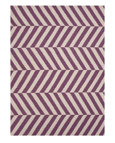 Jaipur Rugs Handmade Flat Weave Stripe Rug [Purple]