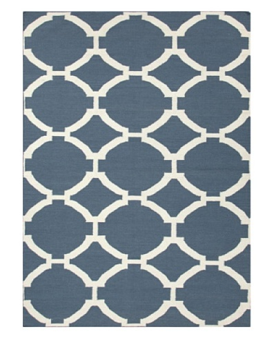 Jaipur Rugs Handmade Flat Weave Geometric Rug [Blue]