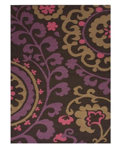 Jaipur Rugs, Inc. Flat Weave Floral Pattern Pink/Purple Wool Handmade ( 3.6x5.6 ) [Pink/Purple/Gray/...