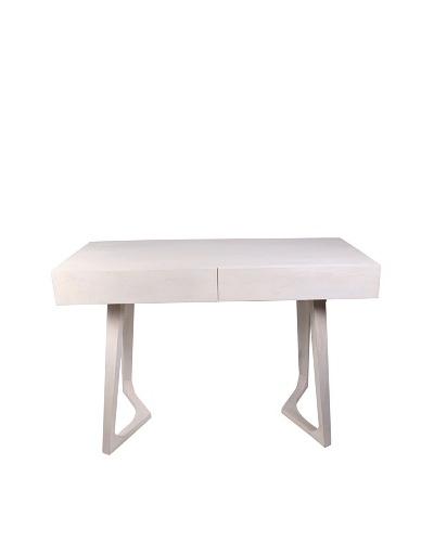 Jamie Young Haven Bent-Leg Desk, Whitewash