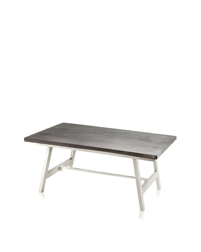Jamie Young Cottage Coffee Table, Chocolate/Nickel
