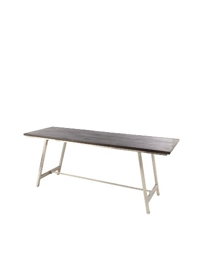 Jamie Young Cottage Dining Table, Chocolate/Nickel