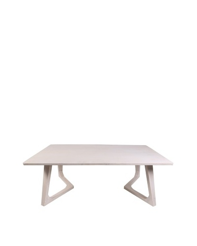 Jamie Young Haven Bent-Leg Coffee Table, Whitewash