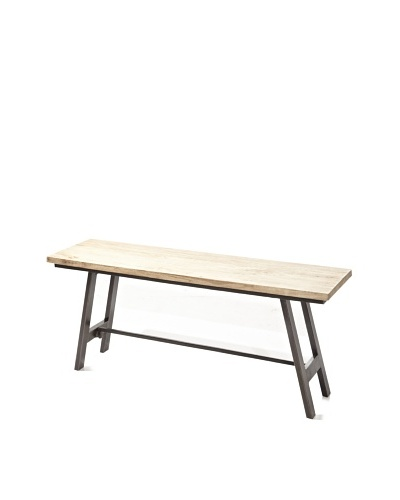 Jamie Young Cottage Folding Bench, Natural/Black