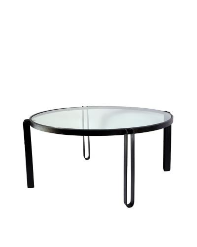 Jamie Young Loop Leg Iron Coffee Table, Black