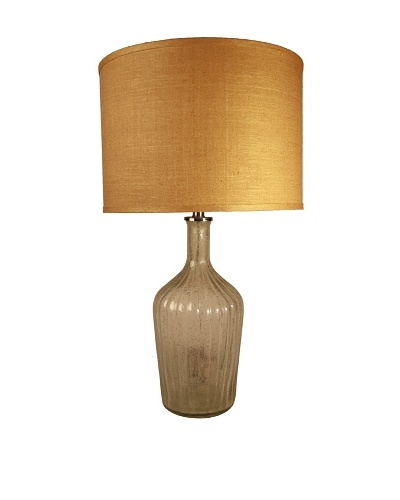 Jamie Young Thalia Fluted Lamp [Clear Seeded Glass]