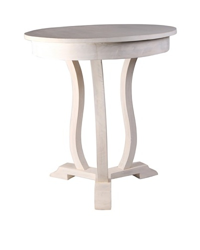 Jamie Young Neville Round Side Table, Whitewash