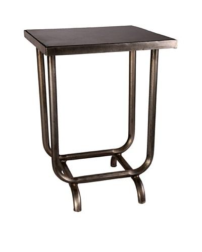 Jamie Young Harris Steel & Marble Table, Black/Aged Steel