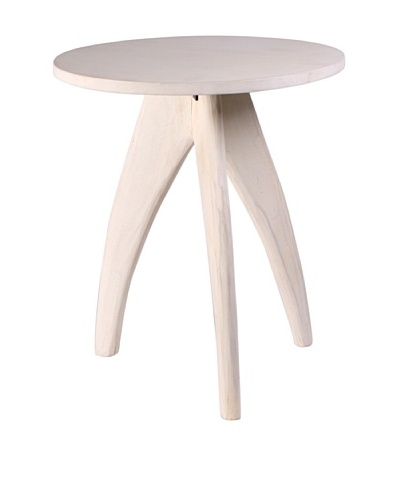 Jamie Young Carson Accent Stool, Whitewash