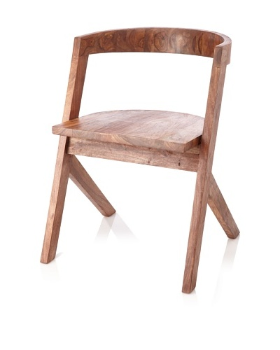 Jamie Young Wood Dining Chair with Curved Back, Natural