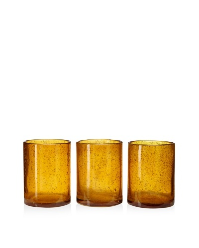 Jamie Young Set of 3 Small Amber Hurricanes