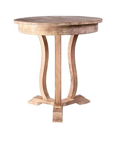Jamie Young Neville Round Side Table, Limewash