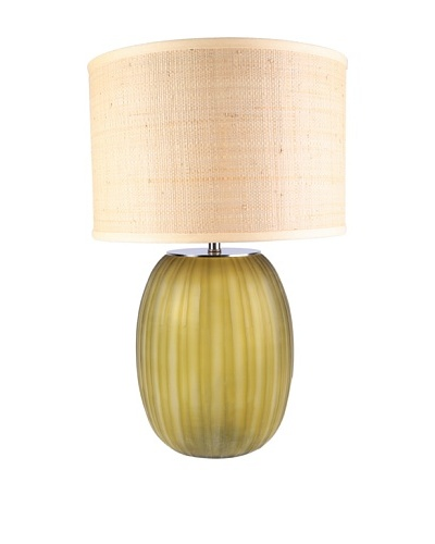 Jamie Young Ribbon Etched Table Lamp, Olive