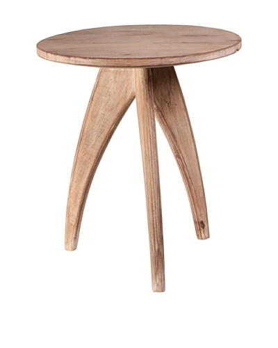 Jamie Young Carson Accent Stool, Limewash