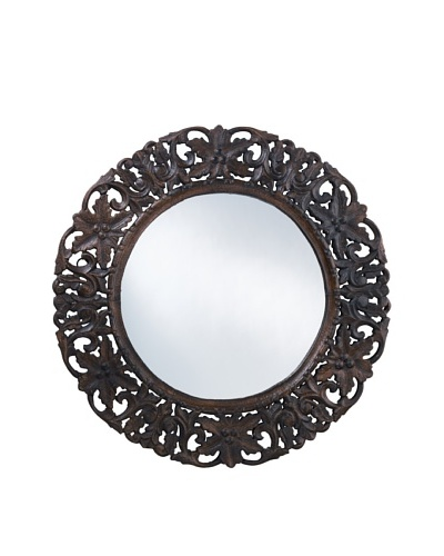 Jamie Young Hand-Carved Wood Mirror, Dark Brown
