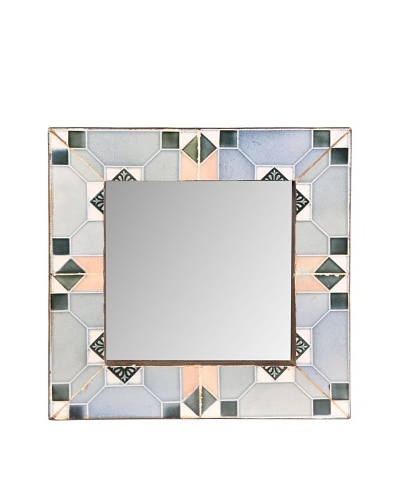 Jamie Young Tile Mirror, Grey Multi, 12 x 12