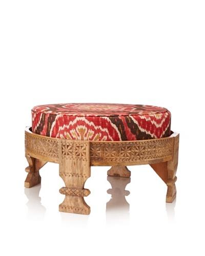 Jamie Young Turkish Ottoman with Cushion, Natural/Cinnamon